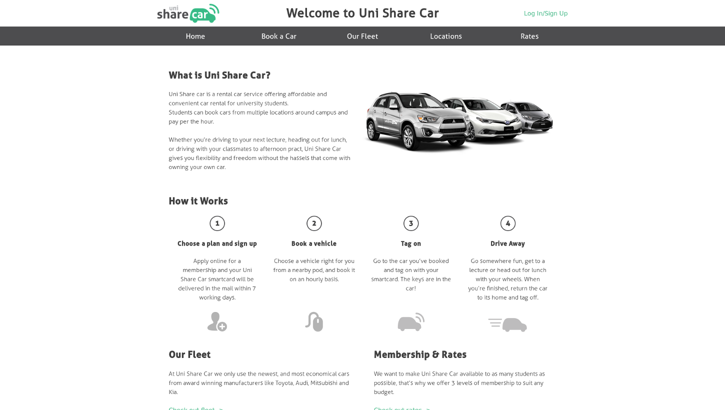 Screenshot for Uni Share Car
